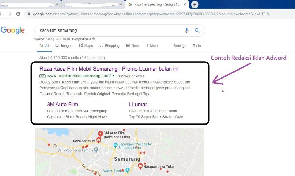 Contoh Iklan Google Ads